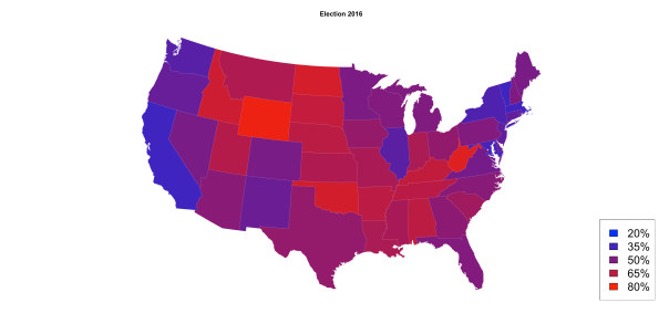 2016 Presidential Election Maps Stats In The Wild